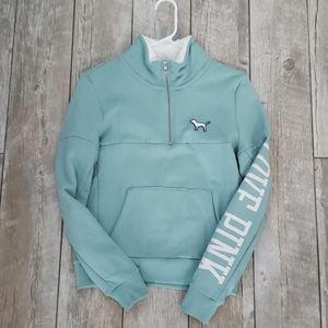 Teal PINK sweatshirt, half zip